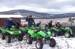 Reno ATV winter tours, ATV snow, Sierra Adventures, Nevada, NV
