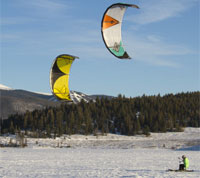Reno cross-country kite skiing, Sierra Adventures, Nevada, NV
