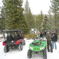 ATV snow tours, Sierra Adventures, Reno, Nevada, NV